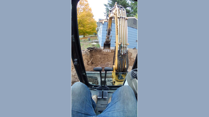 Home Addition – Excavator Work