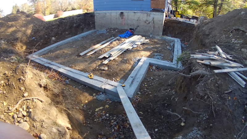 Home Addition – Footings