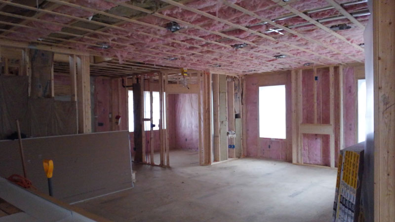 Home Construction - Inside Wall Framing